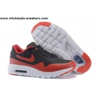 wholesale Kids Nike Air Max 1 Ultra Moire Black Red White Shoes