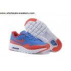 wholesale Kids Nike Air Max 1 Ultra Moire Blue Red Shoes