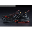 wholesale Womens Nike Air Presto Suede Black Red Running Shoes