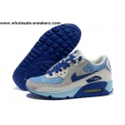 wholesale Womens Nike Air Max 90 Essential Blue Grey Shoes