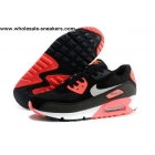 Womens Nike Air Max 90 Essential Black Pink Shoes