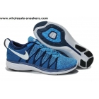 Nike Flyknit Lunar 2 Blue White Mens Running Shoes