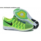 wholesale Nike Flyknit Lunar 2 Volt Green Mens Running Shoes