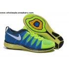 wholesale Nike Flyknit Lunar 2 Blue Volt Mens Running Shoes