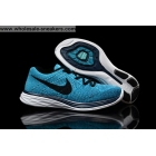 wholesale Nike Flyknit Lunar 3 Blue Black Mens Running Shoes