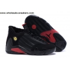 wholesale Womens Air Jordan 14 Winterized Black Red Shoes