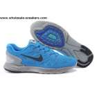 wholesale Nike LunarGlide 6 Blue Grey Mens Running Shoes