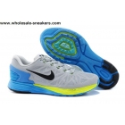 wholesale Nike LunarGlide 6 Grey Blue Volt Mens Trainer