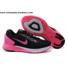 wholesale Womens Nike LunarGlide 6 Black Pink Girls Trainer