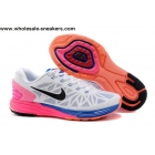Womens Nike LunarGlide 6 White Pink Blue Trainer