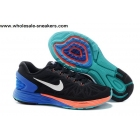 Womens Nike LunarGlide 6 Black Blue Orange Trainer