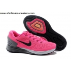 wholesale Womens Nike LunarGlide 6 Pink Grey Running Shoes