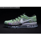 wholesale Nike Flyknit Max Green Purple Black Mens Shoes