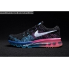 wholesale Womens Nike Flyknit Max Black Blue Pink Shoes
