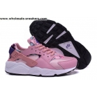 Womens Nike Air Huarache Leather Pink White Trainer