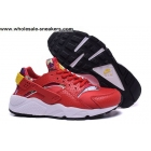 wholesale Womens Nike Air Huarache Leather Red White Trainer