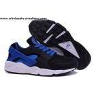 wholesale Nike Air Huarache Leather Black Blue Mens Trainer