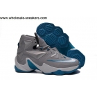 wholesale Nike LeBron 13 BLUE LAGOON Grey Mens Basketball Shoes