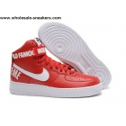 wholesale Nike Air Force 1 High Supreme SP Red White Mens Shoes
