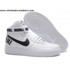 wholesale Nike Air Force 1 High Supreme SP White Black Mens Shoes