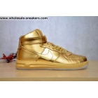 wholesale Nike Lunar Force 1 Mid All Metallic Gold Mens Shoes