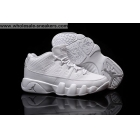 wholesale Air Jordan 9 Low White Chrome Mens Basketball Shoes