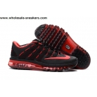 wholesale Womens Nike Air Max 2016 Rubber Patch Black Red Shoes