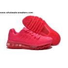 wholesale Womens Nike Air Max 2015 All Pink Running Shoes