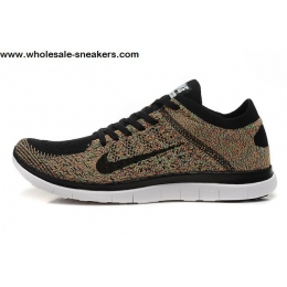 Nike Free 4.0 Flyknit Black Multi Color Mens Running Shoes