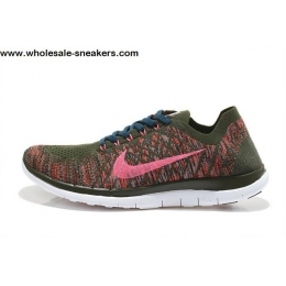 Womens Nike Free 4.0 Flyknit Bronze Pink Running Shoes