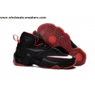 wholesale Womens Nike LeBron 13 Black Red Basketball Shoes
