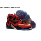 wholesale Nike LeBron 13 Red Black Gold Basketball Shoes
