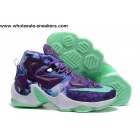 Nike LeBron 13 Purple Volt Mens Basketball Shoes