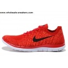 wholesale Nike Free 4.0 V2 Flyknit Red Mens Running Shoes
