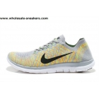 wholesale Nike Free 4.0 V2 Flyknit Grey Volt Mens Running Shoes