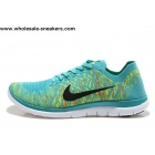 Nike Free 4.0 V2 Flyknit Cyan Volt Mens Running Shoes