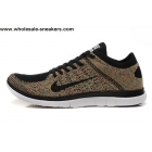 wholesale Nike Free 4.0 Flyknit Black Multi Color Mens Running Shoes