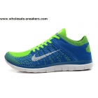 wholesale Nike Free 4.0 Flyknit Blue Volt Mens Running Shoes