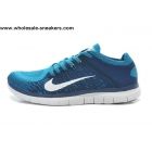 wholesale Nike Free 4.0 Flyknit Navy Blue Mens Running Shoes