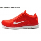 wholesale Nike Free 4.0 Flyknit Red Orange Mens Running Shoes