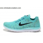 wholesale Womens Nike Free 4.0 Flyknit Sky Blue Running Shoes