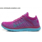 Womens Nike Free 4.0 Flyknit Purple Royal Running Shoes