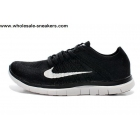 Womens Nike Free Flyknit 4.0 Black White Running Shoes
