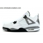 wholesale Air Jordan 4 Retro White Grey Cement