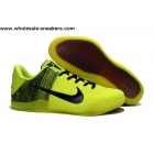 wholesale Nike Kobe 11 Flyknit Volt Black Mens Basketball Shoes