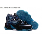 wholesale Nike LeBron 13 Galaxy Black Blue Mens Basketball Shoes