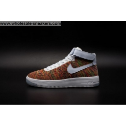 Mens and Womens Nike Air Force 1 Flyknit Multi Color