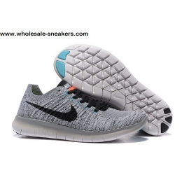 Nike Free Flyknit 5.0 Grey Mens Running Shoes