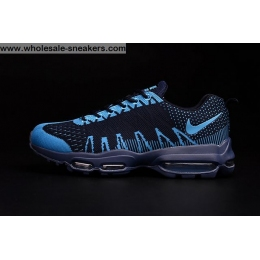 Nike Flyknit Air Max 95 Navy Blue Mens Shoes