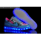 wholesale Womens Nike Air Force 1 Led Lights Blue Flower Print